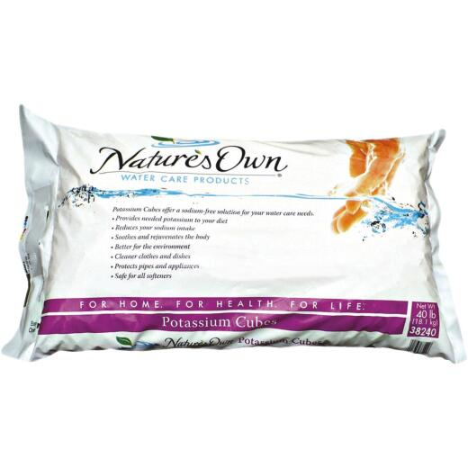 Nature's Own 40 Lb. Potassium Water Softener Salt Cubes