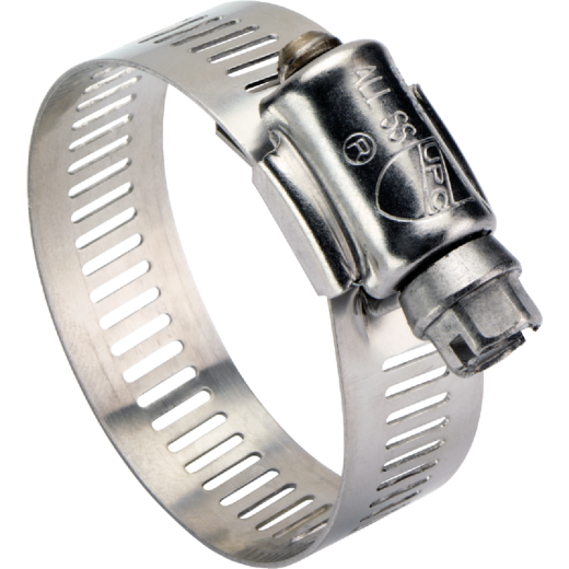 Ideal 2-1/2 In. - 4-1/2 In. All Stainless Steel Marine-Grade Hose Clamp