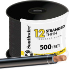 Southwire 500 Ft. 12 AWG Stranded Black THHN Wire Image 1
