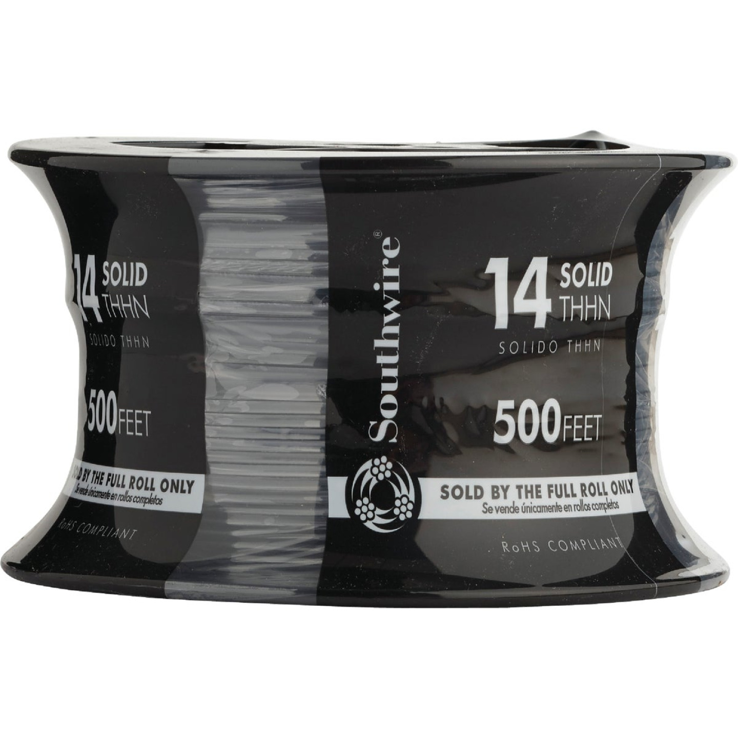 Southwire 500 Ft. 14 AWG Solid Black THHN Wire Image 2