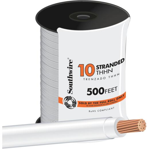 Southwire 500 Ft. 10 AWG Stranded White THHN Wire