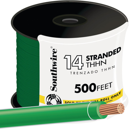 Southwire 500 Ft. 14 AWG Stranded Green THHN Wire