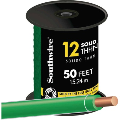 Southwire 50 Ft. 12 AWG Solid Green THHN Wire