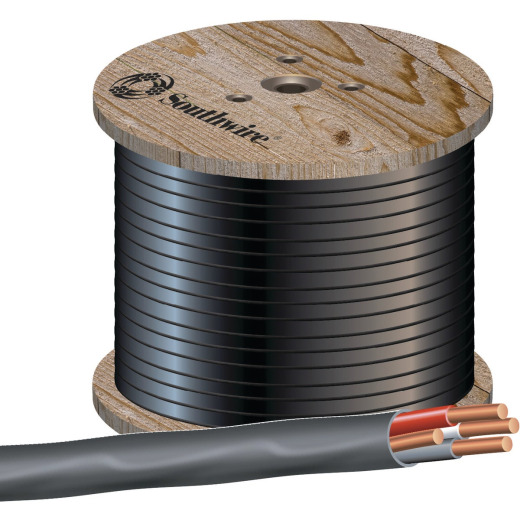 Romex 500 Ft. 8-3 Stranded Black NMW/G Wire