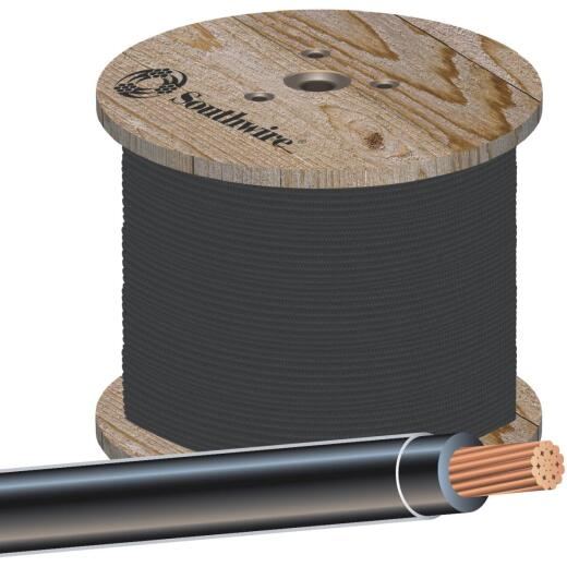 Southwire 500 Ft. 2 AWG Stranded Black THHN Wire