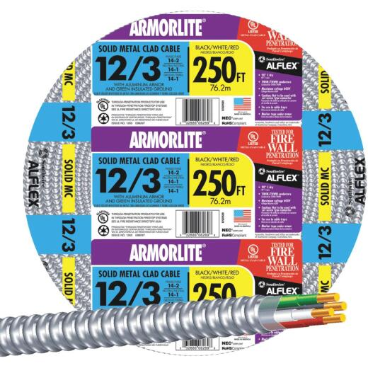 Southwire 250 Ft. 12/3 MC Armored Cable