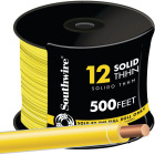 Southwire 500 Ft. 12 AWG Solid Yellow THHN Wire Image 1