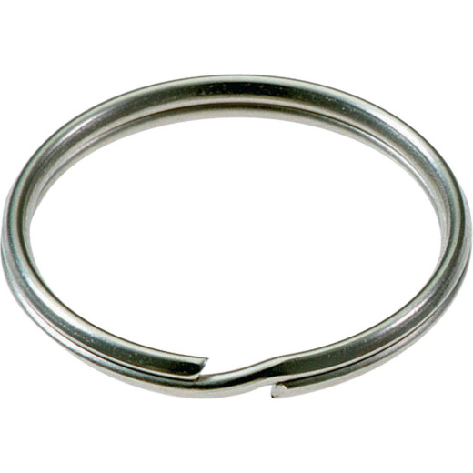 Lucky Line Tempered Steel Nickel-Plated 1/2 In. Key Ring (100-Pack)