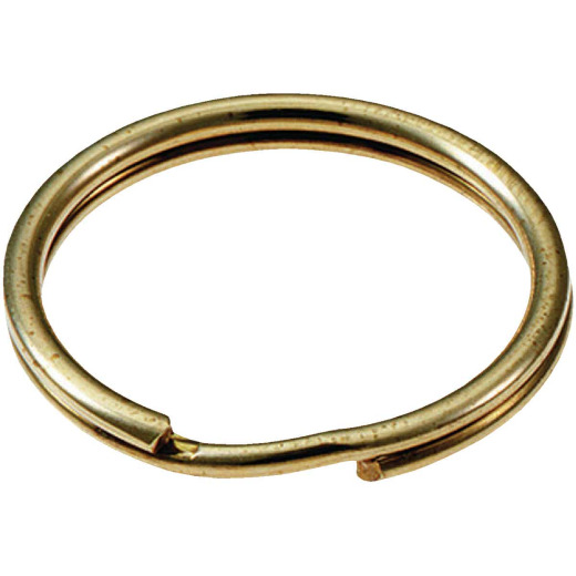 Lucky Line Tempered Steel Nickel-Plated 3 In. Key Ring