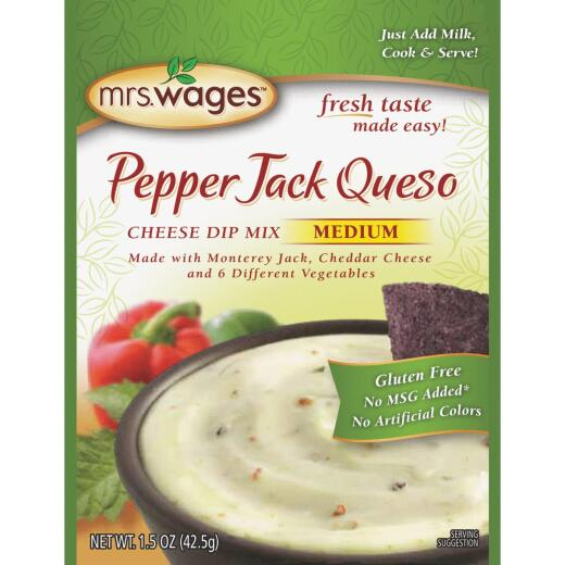 Mrs. Wages 1.5 Oz. Pepper Jack Queso Cheese Dip Mix