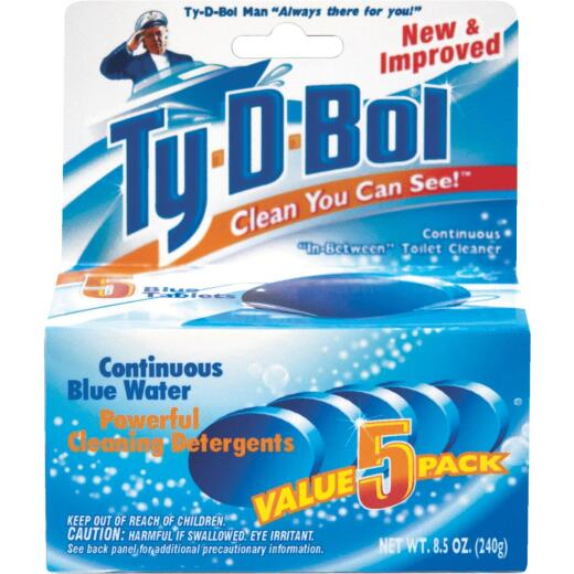 Ty-D-Bol Blue Tablet Automatic Toilet Bowl Cleaner (5-Count)