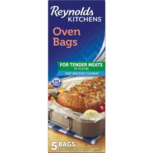 Reynolds 16 In. x 17-1/2 In. Oven Bag (5 Count)