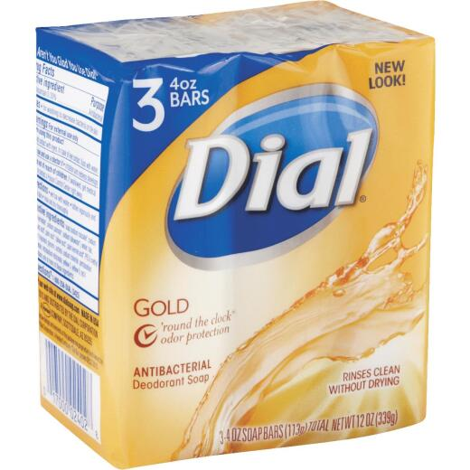 Dial Gold 4 Oz. Bath Bar Soap, (3-Pack)