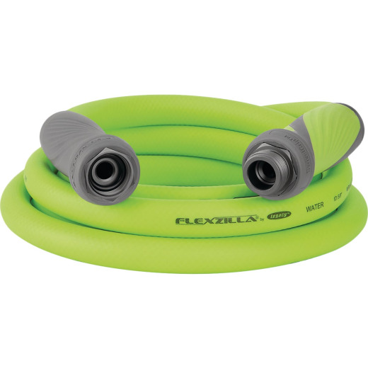 Flexzilla SwivelGrip 5/8 In. Dia. x 10 Ft. L. Drinking Water Safe Lead-In Hose with Male & Female Couplings