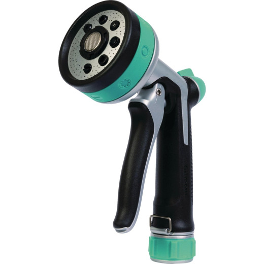 Gilmour Stainless Steel Eight-Pattern Nozzle, Black/Green