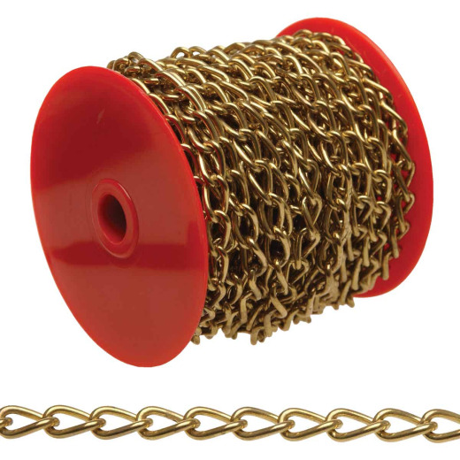 Campbell #70 82 Ft. Brass-Plated Metal Craft Chain