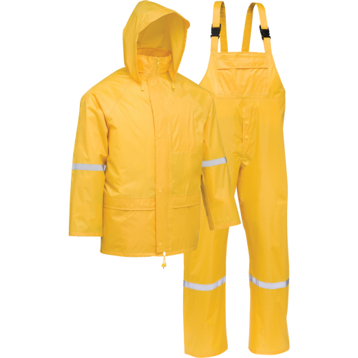 West Chester 2XL 3-Piece Yellow Polyester Rain Suit