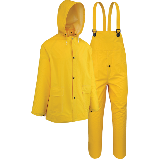 West Chester XL 3-Piece Yellow PVC Rain Suit