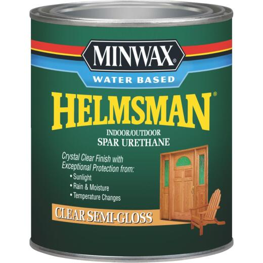 Minwax Helmsman Quart Semi-Gloss Water-Based Spar Interior/Exterior Varnish