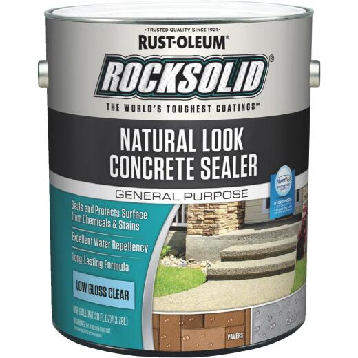 Rust-Oleum RockSolid Natural Look Concrete Sealer, 1 Gal., Clear