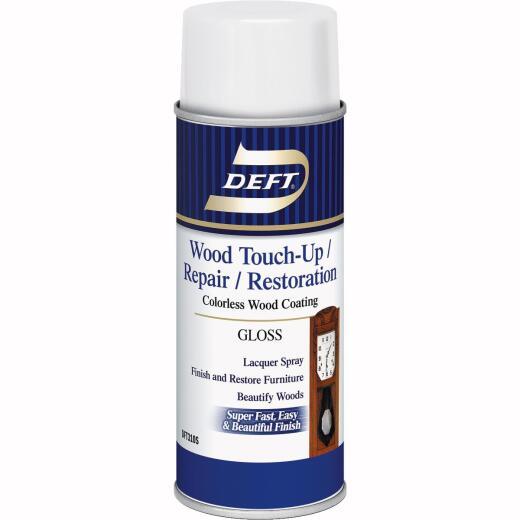 Deft VOC Compliant 12.25 Oz. Gloss Clear Wood Finish Interior Spray Lacquer