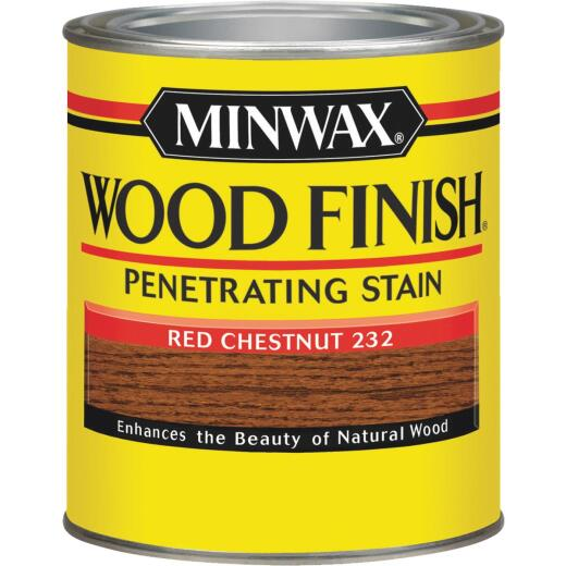 Minwax Wood Finish Penetrating Stain, Red Chestnut, 1 Qt.