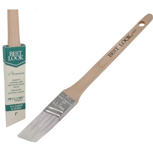 Best Look Premium 1 In. Thin Angle Nylyn Paint Brush