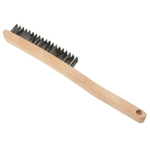 Best Look Long Curved Handle Wire Brush
