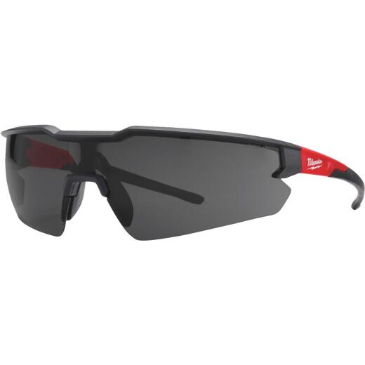 Milwaukee Red & Black Frame Safety Glasses with Tinted Lenses