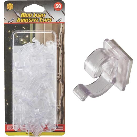 Commercial Christmas Hardware Clear Window Frame & Door Frame Mini Light Adhesive Clips (50-Pack)